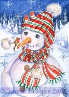 ACEO Winter Tweets by JoannaBromley