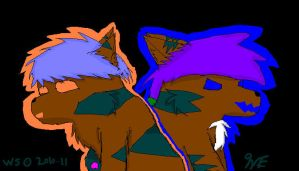 Hawkfrost and Brambleclaw by Wolvestorms
