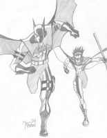 Batman and Robin Revamped by Virtualist