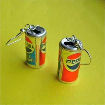 Pepsi can earrings by Quirkz