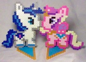 Shining Armor + Princess Cadence Perler by Perler-Pop