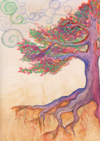 Purply Flying Tree by GuardtheDoors