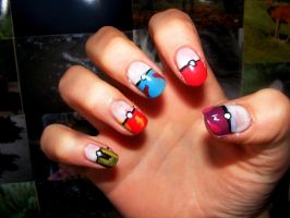 Pokemon Nails by barkingmadcaz