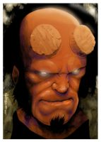 Hellboy color by nelsoncosentino