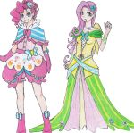 Pinkie Pie and Fluttershy's Gala dress by pimlak1234