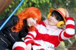 Luffy and Nami | Punk Hazard | I by Wings-chan