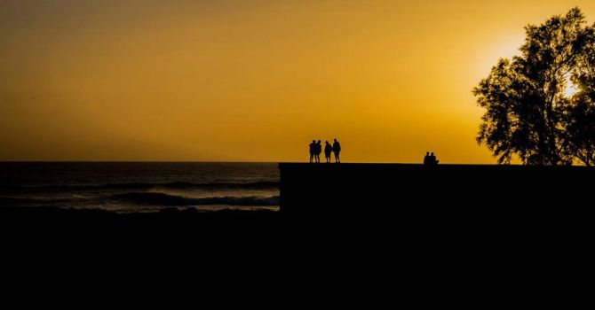 An evening in Grand Canaria by qwstarplayer