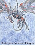 Red-Eyes Darkness Dragon by King-Hauken