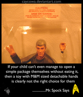 Spock Says by caycowa