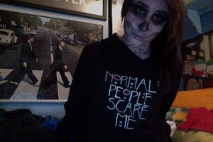 THIS IS ART K. Tate Langdon makeup and top by keepcalm-savehyrule