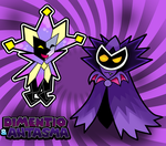 Dimentio and Antasma by Fawfulthegreat64