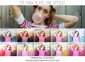 PSD PACK -Love Effects- 10 PSD Coloring by Heavensinyoureyes
