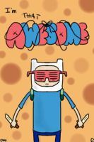 Finn with shades by AdventureTime1Fan