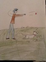 2D and Dog by MaxxCrow