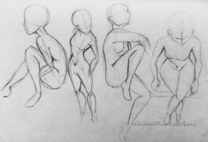 Rough Sketch Studies: The Female form by Whiskers777