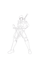 Character Lineart (Operation K) by Scilentor