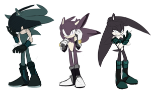 All mah hedgies by Un-Genesis