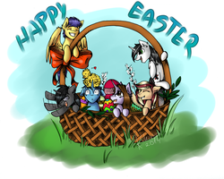 Happy Easter Everypony ! by Kukirra