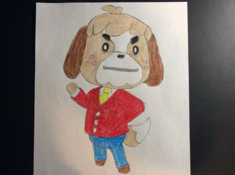 My drawing of Digby (Animal Crossing) by SplatCrosser
