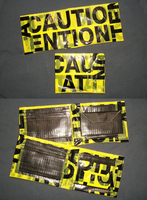 Caution Tape Wallets by PracticallyGeeky