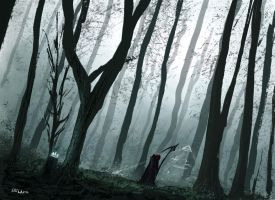 another forest by Juhupainting