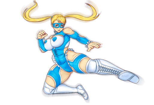 Rainbow Mika Street Fighter Alpha 3 by BartonDH