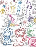 Pikmin: Pencil Doodlz by saiiko