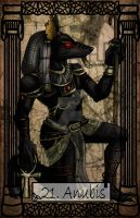 Mythology Tarot Anubis by TheBlindProphetess
