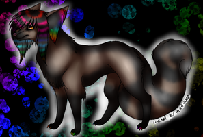Skye the Scene Wolf/Dog by Lunamania
