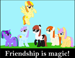 Friendship is magic nobody can change that! by Nefeloma21