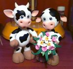 Cow Cake Topper by Jarreth