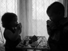 Tea Party with bubba and sissie by ujustwannabme