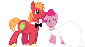 Big Macintosh and Pinkie Pie Wedding by JoeDash