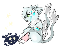 .: I'm seeing stars :. Art Trade by Amanska