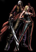 Dante and Trish by nick511