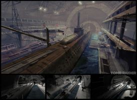 Submarine base by I-GUYJIN-I