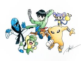 Naruto x Pokemon (Rock Lee)