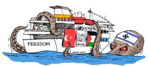 Attacking Gaza FLOTILLA:Latuff by Meyra