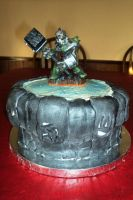 Skylander Portal Cake - Different figure by Jennfrog