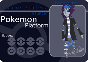 PP Battle Card :: Haunter:: Draconis Signless by Catastrapostrophe