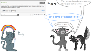 Over 9000 Members On Kugyay by TheRainyWolf