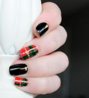 Christmas Plaid, Triangle Stud Review by RobertsPhotography