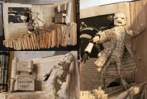 The Hitchhikers Guide To The Galaxy -Book Sculpure by Nippip