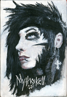 Andy Biersack ~ Painting by Mythokell