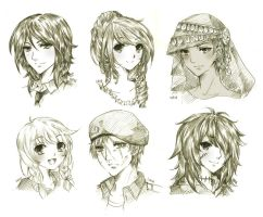 headshot commission batch 4 by urusai-baka