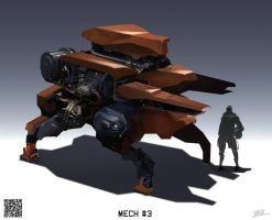 Mech sketch 09212014 by WarrGon
