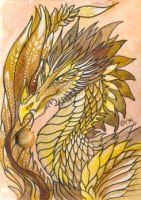 ACEO Dragon 42 by rachaelm5