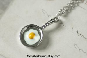 Frying Pan Necklace by MonsterBrandCrafts