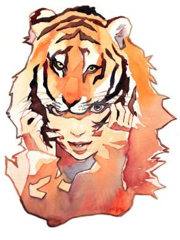 Tiger Hat Girl by taho