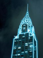 Tron Chrysler Building by Valentin947